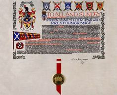 Inheriting an English Peerage, via Isobel Carr at History Hoydens. Letters Patent for Lyon Barony.