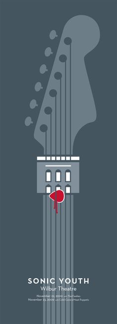 In this design, there is emphasis based on contrast in color. The overall tone in this piece is a gray-blue with a pop of red in the guitar pick drawing emphasis on a very important tool to play the given instrument.