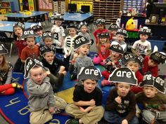"""Take sight word """"are"""" off the word wall and leave a note from a pirate that it was taken (mistaken with """"arrghhh""""). Go on a treasure hunt to get the word back for the word wall (use with Pirates in Kindergarten story)."""