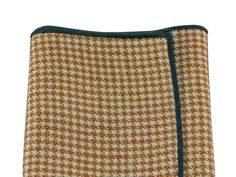 Taupe Houndstooth Wool Pocket Square