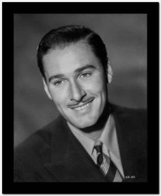 Errol Flynn smiling Portrait in Tuxedo High Quality Photo