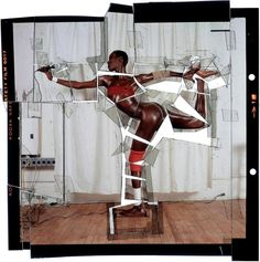 "FB | The Red List. | Jean-Paul Goude, ""Grace, Revised and Updated, Cut-Up, Ekta"", NY, 1978"