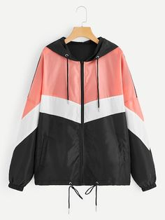 Shop Plus Color-block Zip-up Hooded Windbreaker Jacket online. SheIn offers Plus… Shop Plus Color-block Zip-up Hooded Windbreaker Jacket online. SheIn offers Plus Color-block Zip-up Hooded Windbreaker Jacket & more to fit your fashionable needs. Plus Size Dresses, Plus Size Outfits, Coats For Women, Clothes For Women, Plus Size Fashion Tips, Casual Outfits, Fashion Outfits, Work Fashion, Unique Fashion