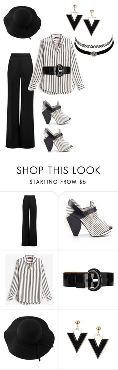 """Black & White"" by cchazel ❤ liked on Polyvore featuring Charlotte Russe, Roksanda, Abcense, White House Black Market, Karen Millen and Sans Souci"
