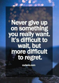 Im not giving up..