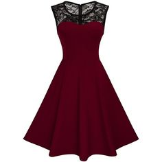 HOMEYEE Women's Vintage Chic Sleeveless Cocktail Party Dress A008 (€20) ❤ liked on Polyvore featuring dresses, sleeveless cocktail dress, holiday cocktail dresses, vintage cocktail dresses, special occasion cocktail dresses and vintage special occasion dresses