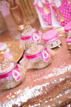 Crown-adorned favor jars from a Royal Princess Baby Shower on Kara's Party Ideas | KarasPartyIdeas.com (11)