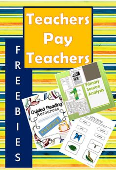 Three free resources from Teachers Pay Teachers for a variety of ages and subject areas. You'll find life cycle activities for Kindergarten age, guided reading activities for lower elementary, and a primary source analysis PowerPoint and notes for secondary ELA and social studies.