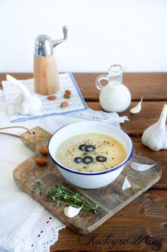 KochzereMoni: Rezept für Einsame... Knoblauchcremesuppe mit Mandelmilch