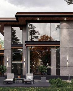 Modern Exterior House Designs, Best Modern House Design, Modern House Facades, Modern Minimalist House, Dream House Exterior, Modern Architecture House, Exterior Design, Architecture Design, Minimalistic Kitchen