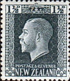 New Zealand 1915 SG 416 George V Head Fine Mint SG 416 Scott 145 Condition Fine…