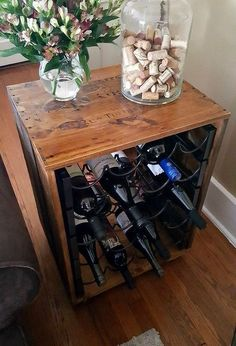 thrift store upcycle wine rack end table, how to, living room ideas, painted furniture, repurposing upcycling