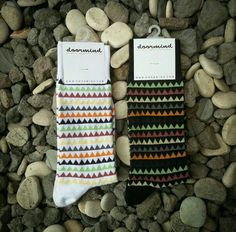 Doormind socks model Polynesian Rainbow,  the yin and yang of tropical patterns.