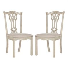 Safavieh FOX6239 Whitfield Mahogany Chippendale Side Chair (Set of 2)