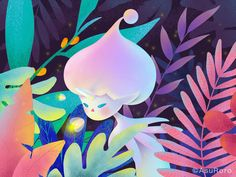 Spring Night designed by AsuRoro. Night Illustration, Pencil Illustration, Character Illustration, Graphic Illustration, Fashion Art, Affinity Designer, Illustrations And Posters, Ghibli, Art Drawings