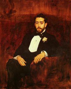 Joaquín Sorolla (Spanish, 1863-1923), Portrait of the Lawyer Don Silverio de la Torre y Eguia, 1893. Oil on canvas, 100 x 125 cm. Private collection.