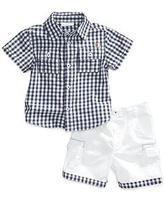 First Impressions Baby Boys' 2-Piece Shirt & Shorts Set - Kids Baby Boy (0-24 months) - Macy's