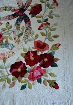 Applique idea with a double wedding ring by maura