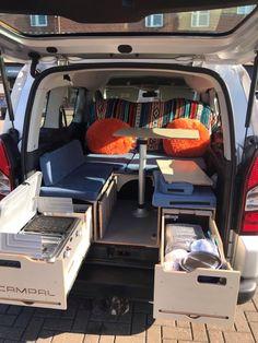 Van Conversion For Family, Camper Conversion, Diy Camper, Camper Van, Berlingo Camper, Rental Vans, Custom Mercedes, Minivan Camping, Van Accessories