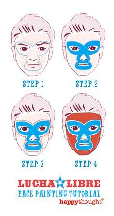 Lucha Libre mask face paint DIY tutorial!