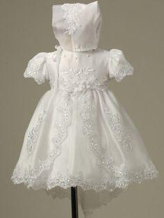 Baby Infant Christening Baptism gowns Dress Bonnet Free Outfit Wedding Toddler - Dresses