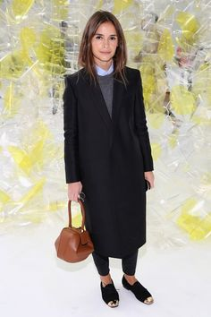 Miroslava Duma blue shirt, cropped black jeans, flats You can pull this off easily! And she has flats on! She is only 5' tall