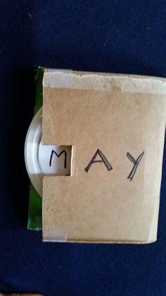 Three letter word game '_AY'  Cardboard, yogurt lid