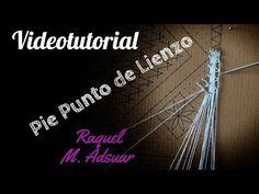 Pie Punto de Lienzo. Encaje de Bolillos - YouTube