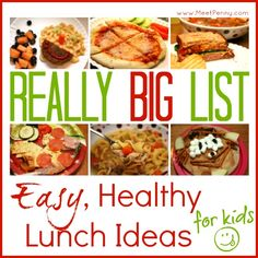 Tons of easy, healthy lunch ideas for kids. Includes free printables.