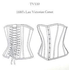 1880's late Victorian corset making kit.