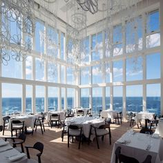 Fogo Island Inn in Norway is a hotel and gallery on stilts on the coast of Fogo Island in Canada