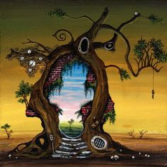 Chuck E. Bloom's strange chimeric habitats and windows into other worlds have me thoroughly intrigued…