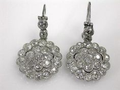 Diamond Earrings, circa 1920`s.
