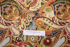 Richloom Giverny Printed Cotton Drapery Fabric in Chamelion $4.95 per yard