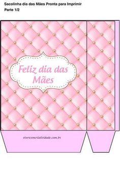 Sacolinha Presente dia das Mães Grátis Rosa #diadasmaes #diadasmães #mães #mae #mothersday