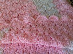 Rocky Mountain Stitcher: Corner to Corner baby afghan close up