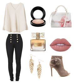 """Natural"" by nahida03 on Polyvore featuring MANGO, Balmain, Ted Baker, Humble Chic, Lime Crime, Givenchy and MAC Cosmetics"