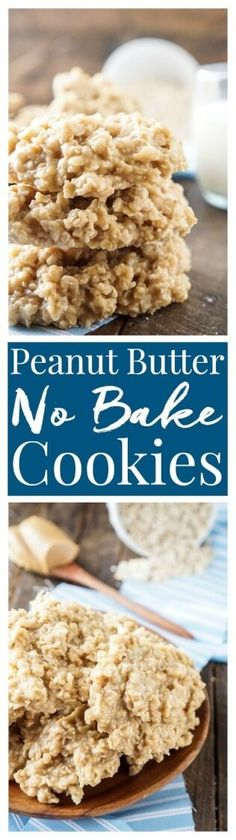 These Peanut Butter No Bake Cookies are an easy and classic cookie recipe the whole family will enjoy! via @sugarandsoulco
