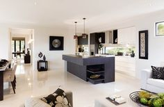 Open Plan Kitchen Living And Kitchen Living Rooms On Pinterest