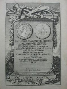 Philipp von Stosch (1691-1757), engraving by J. J. Preisler 1732