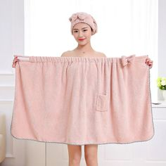 Hair Bows Tube Top Bath Skirt Adult Woman Sexy Super Absorbent Gown Beach Towel Set Towelling Bathrobe Can Girls Clothes Towels .Bowknot Braised Chest Skirt Adult Female Feel Towel Quick Dry Can Wea Hair Towel Wrap, Towel Girl, Towel Dress, Hair Turban, Jolie Lingerie, Sewing For Beginners, Diy Clothes, Dress Patterns, Hair Bows