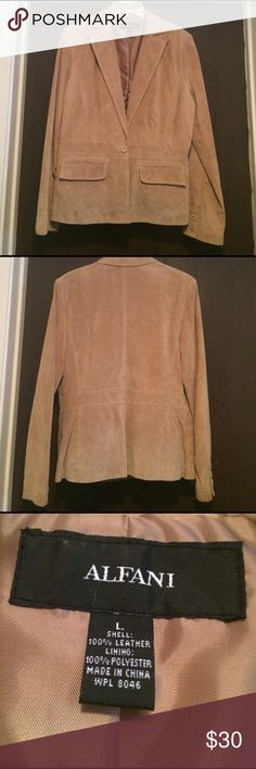 Leather Blazer NWOT Ladies Leather Blazer. Great lightweight professional looking layer for Spring Alfani Jackets & Coats Blazers