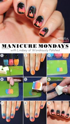 Mani Monday: Beach Sunset Nail Tutorial