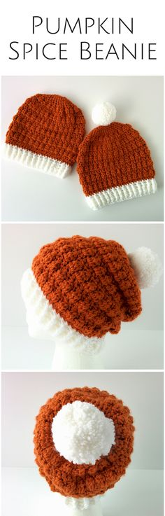 Cute cosy and so soft! Get the pumpkin spice beanie today and stay toasty all Fall!