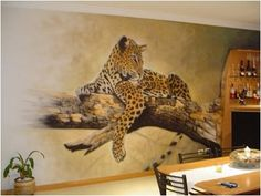 Very pretty airbrushed wall.