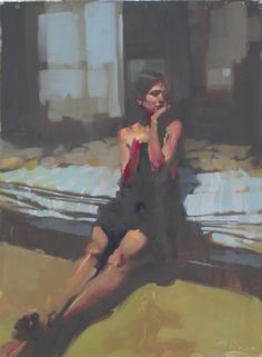 Striped Sheets, Michael Carson. Love the colors and the strokes