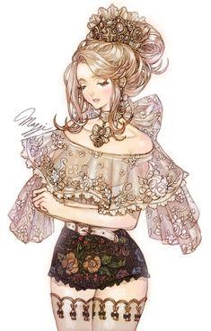 53 Ideas For Love Bird Drawing Illustrations Beautiful Art Manga, Anime Art Girl, Manga Girl, Anime Girls, Pretty Art, Cute Art, Fantasy Kunst, Fantasy Art, Fille Blonde Anime