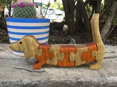 Gift for kids, Dachshund, Wooden toy, Wooden puzzles, Wooden Dog, Beagle Dog, Wiener Dog, handmade, wooden puzzle toy, animal games, toys.