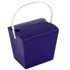 Purple Plastic Noodle Boxes Jelly Pails 8oz 240ml Pk25