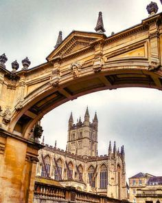 At the lovely Bath Abbey in England.